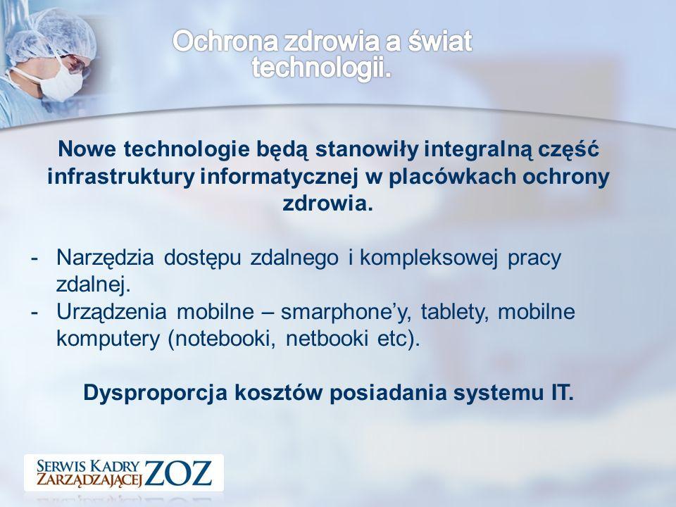 Nowe technologie będą stanowiły integralną część infrastruktury informatycznej w placówkach ochrony zdrowia.