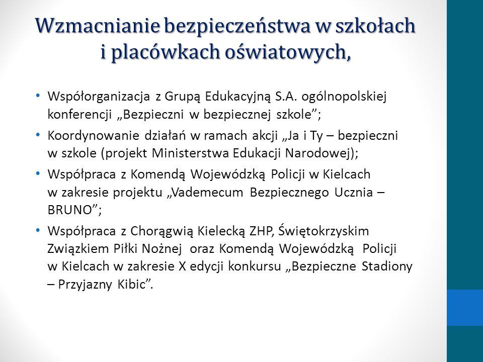 Wzmacnianie bezpieczeństwa w szkołach i placówkach oświatowych, Współorganizacja z Grupą Edukacyjną S.A. ogólnopolskiej konferencji Bezpieczni w bezpi