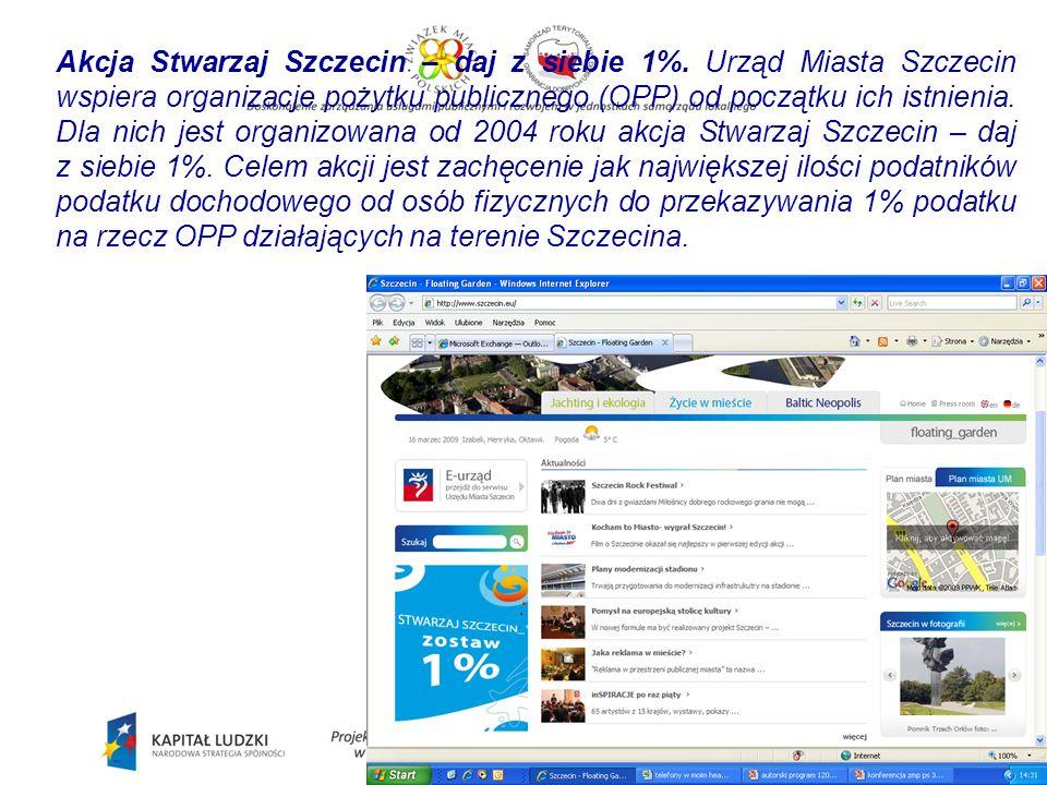 Akcja Stwarzaj Szczecin – daj z siebie 1%.