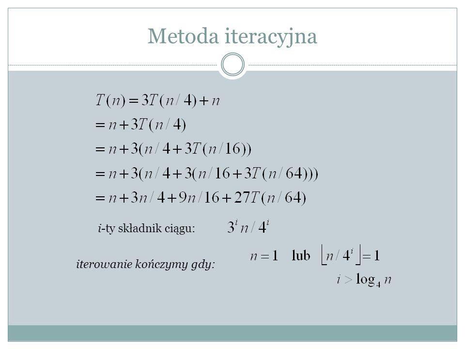 Metoda iteracyjna szereg geometryczny