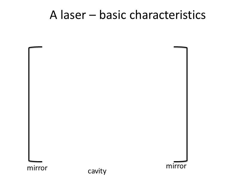 mirror cavity mirror A laser – basic characteristics