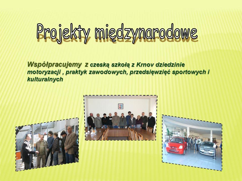 Współpracujemy z czeską szkołą z Krnov dziedzinie motoryzacji, praktyk zawodowych, przedsięwzięć sportowych i kulturalnych