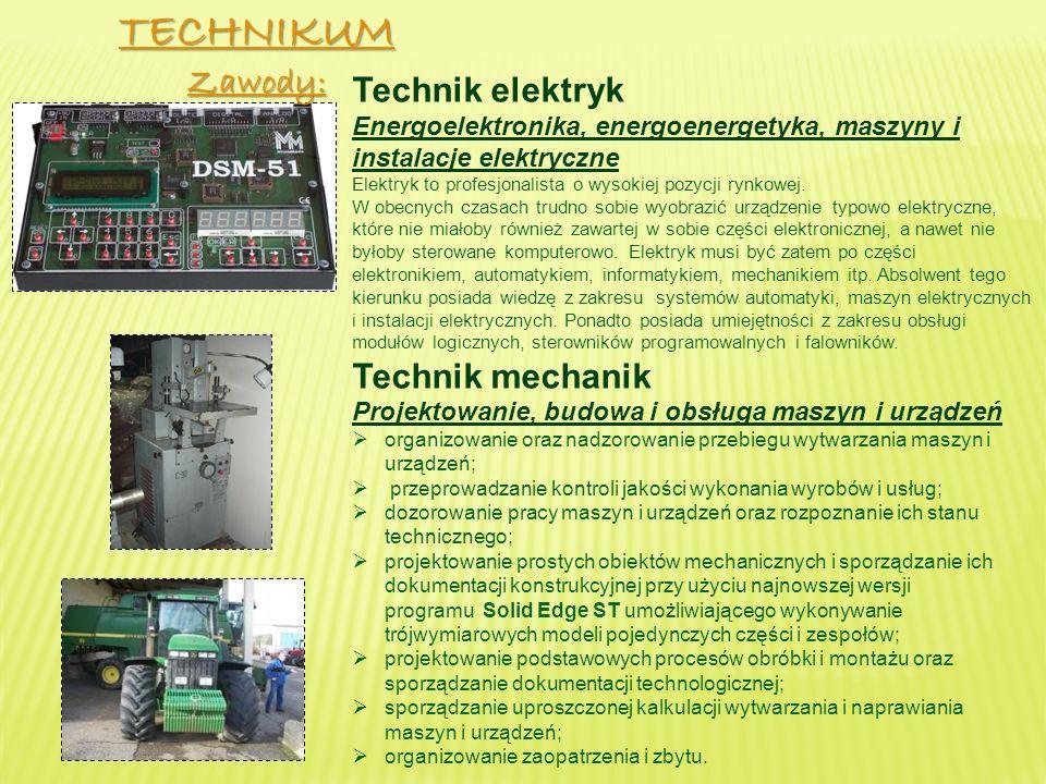 Technik elektryk Energoelektronika, energoenergetyka, maszyny i instalacje elektryczne Elektryk to profesjonalista o wysokiej pozycji rynkowej.