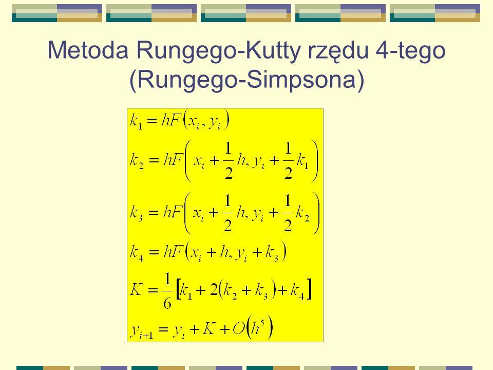 Metoda Rungego-Kutty rzędu 4-tego (Rungego-Simpsona)