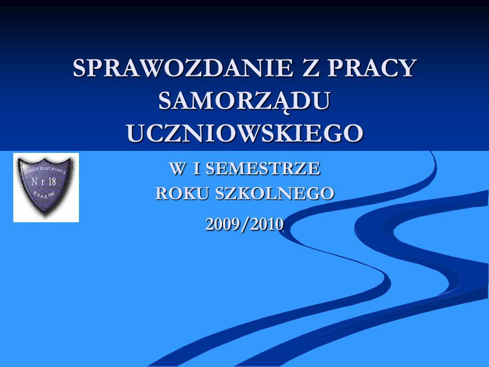 WYBORY DO SZKOLNEJ RADY UCZNIOWSKIEJ Wybory do Szkolnej Rady Uczniowskiej odbyły się w dniu 14.09.2009 r.