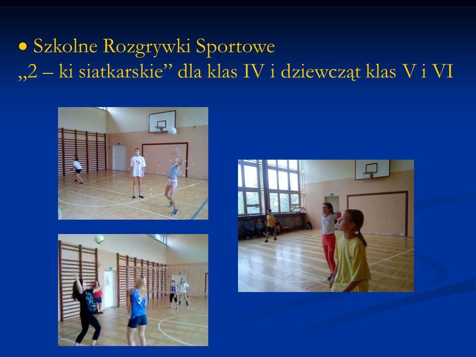 Szkolne Rozgrywki Sportowe 2 – ki siatkarskie dla klas IV i dziewcząt klas V i VI
