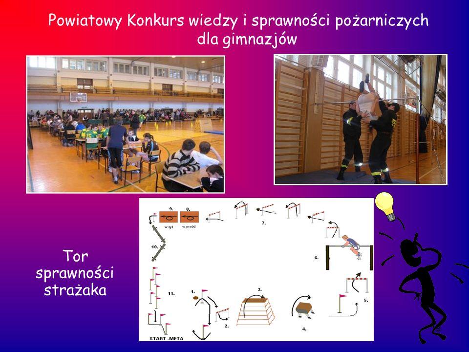 19 Powiatowy Konkurs wiedzy i sprawności pożarniczych dla gimnazjów Tor sprawności strażaka