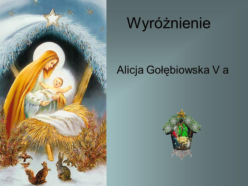 Wyróżnienie Alicja Gołębiowska V a