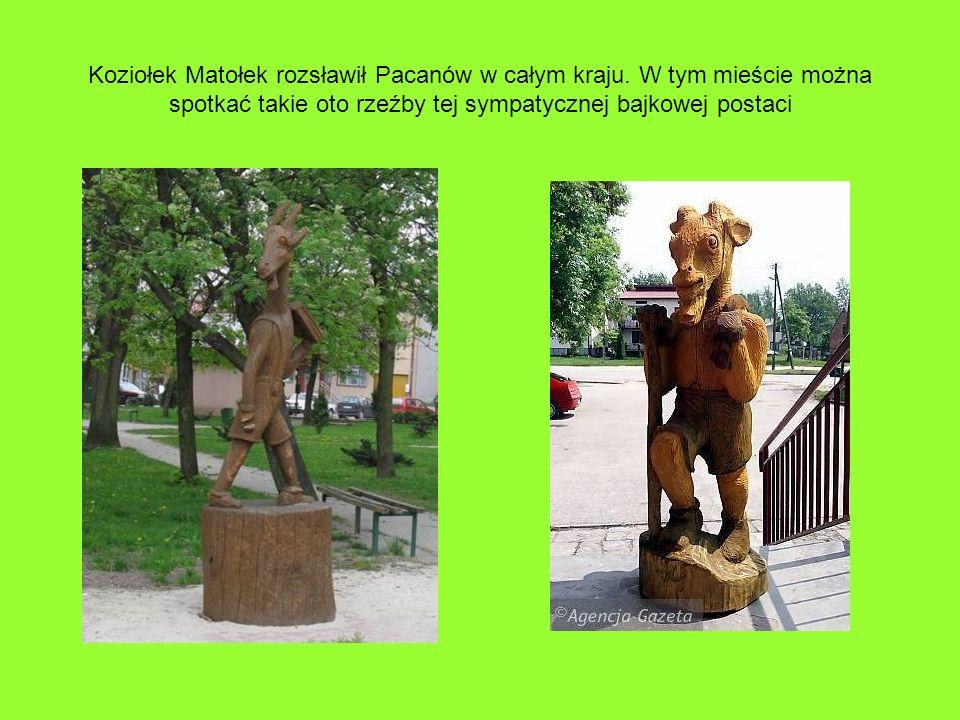 Koziołek Matołek rozsławił Pacanów w całym kraju. W tym mieście można spotkać takie oto rzeźby tej sympatycznej bajkowej postaci