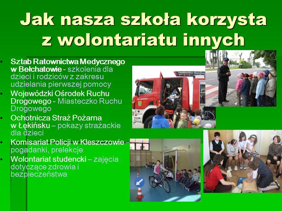 Jak nasza szkoła korzysta z wolontariatu innych Sztab Ratownictwa Medycznego w Bełchatowie - szkolenia dla dzieci i rodziców z zakresu udzielania pier