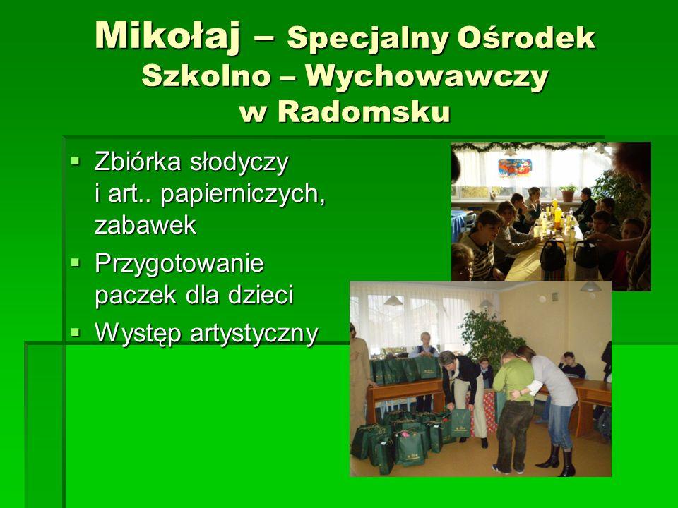 Mikołaj – Dom Samotnej Matki w Biłgoraju Zbiórka art.