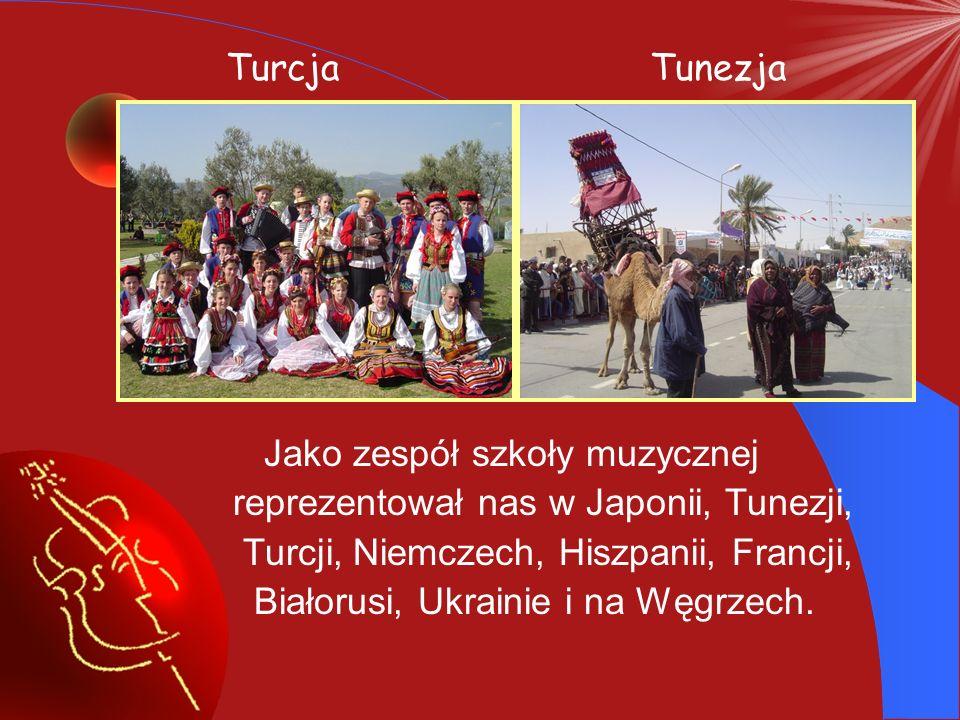 Zespół koncertuje zarówno w Polsce jak i poza granicami kraju biorąc udział w folklorystycznych przeglądach propagując kulturę polską na całym świecie promując imię naszej szkoły i miasto.