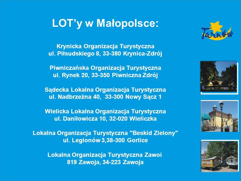 LOTy w Małopolsce: Krynicka Organizacja Turystyczna ul.
