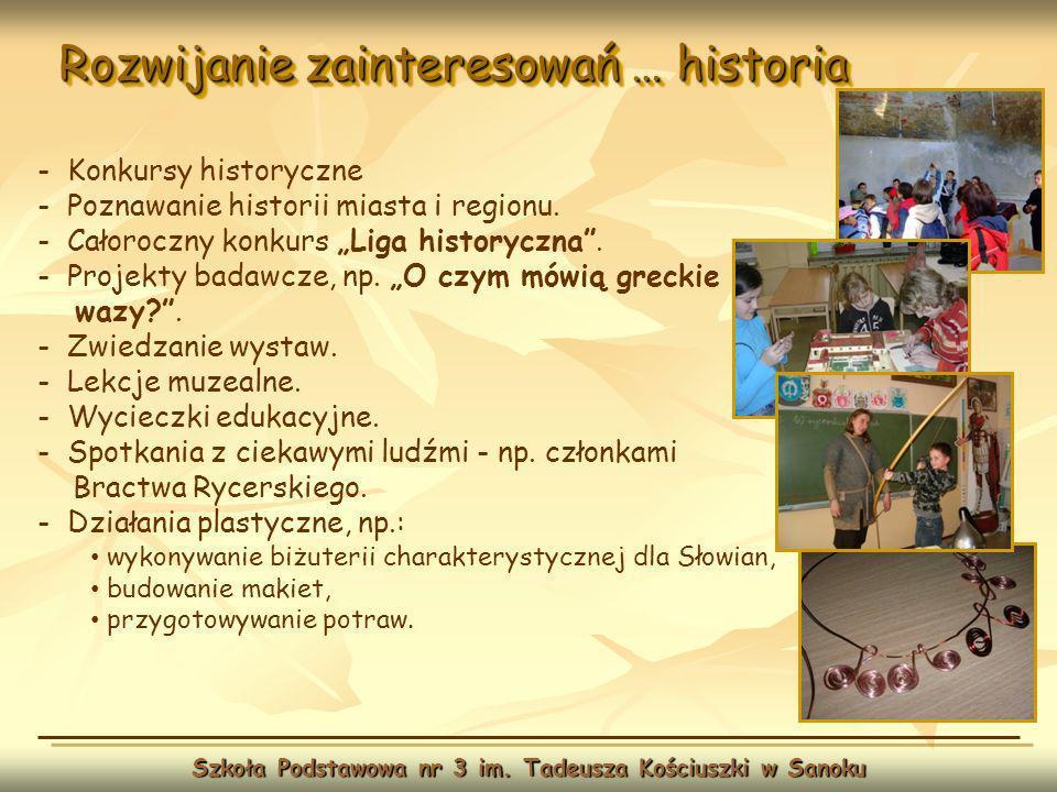 Rozwijanie zainteresowań … WF Szkoła Podstawowa nr 3 im.