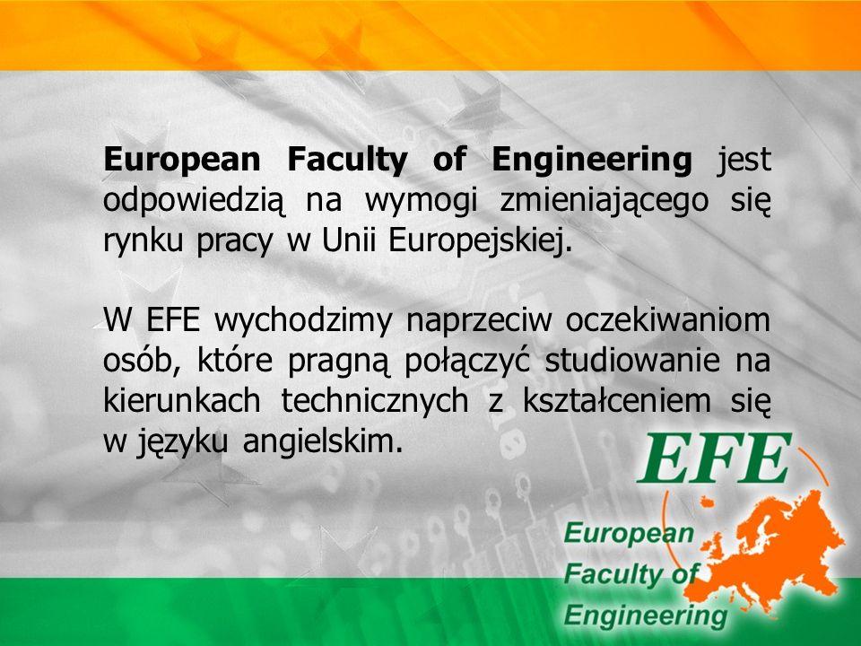 Oferta EFE jest skierowana do ludzi, którzy wiążą swoją przyszłość zawodową z pracą w dużych, zagranicznych koncernach i chcą studiować w języku angielskim.