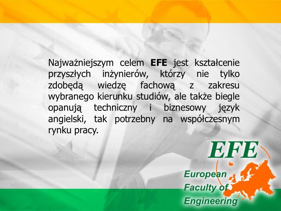 Kadrę dydaktyczną EFE stanowią nauczyciele akademiccy z różnych Wydziałów Politechniki Częstochowskiej, mający doświadczenie we współpracy międzynarodowej oraz zapraszani wykładowcy z partnerskich uczelni zagranicznych.