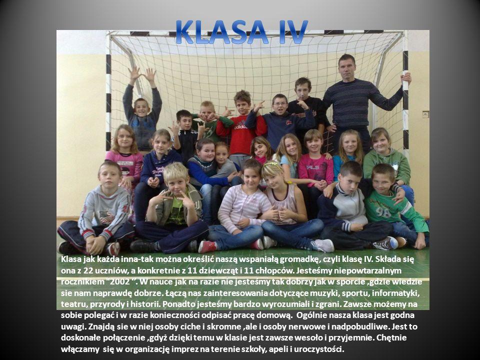 Klasa jak każda inna-tak można określić naszą wspaniałą gromadkę, czyli klasę IV.