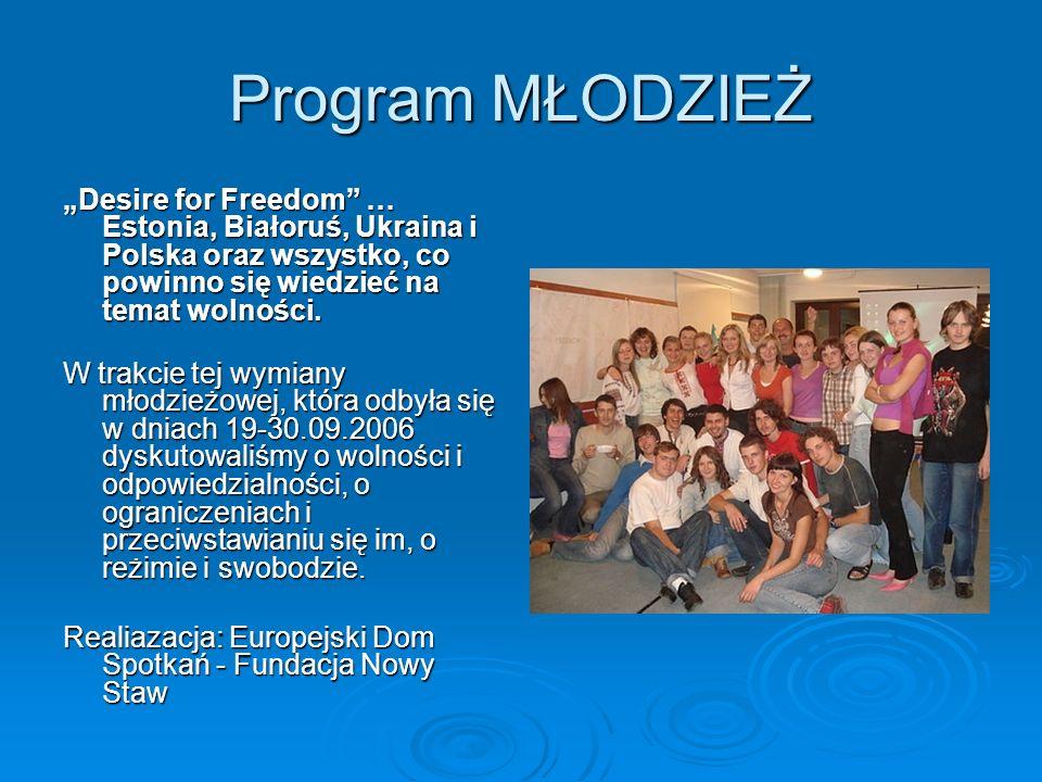 Program MŁODZIEŻ Desire for Freedom … Estonia, Białoruś, Ukraina i Polska oraz wszystko, co powinno się wiedzieć na temat wolności.