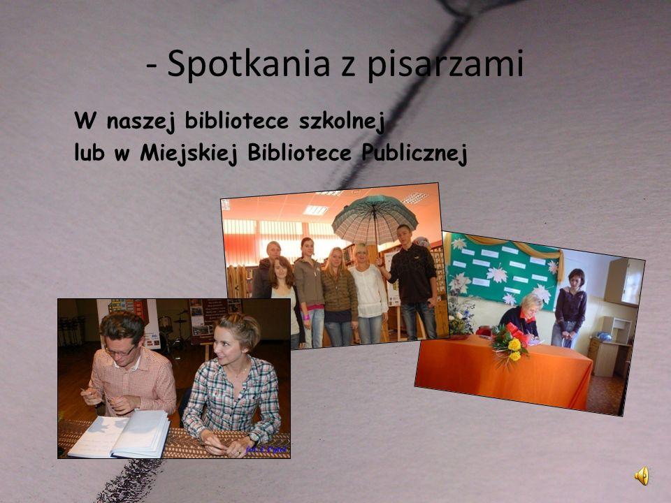 Spotkania i wykłady Na przykład: Moje spotkanie z Miłoszem i jego poezją na trudne czasy (8.03.2011) Miłosz jakiego znałem (17.11.2011; Rok Miłosza) 3