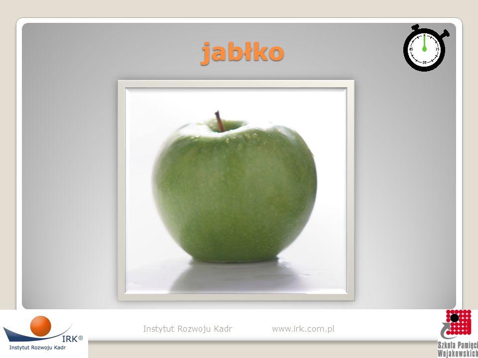 jabłko jabłko Instytut Rozwoju Kadr www.irk.com.pl