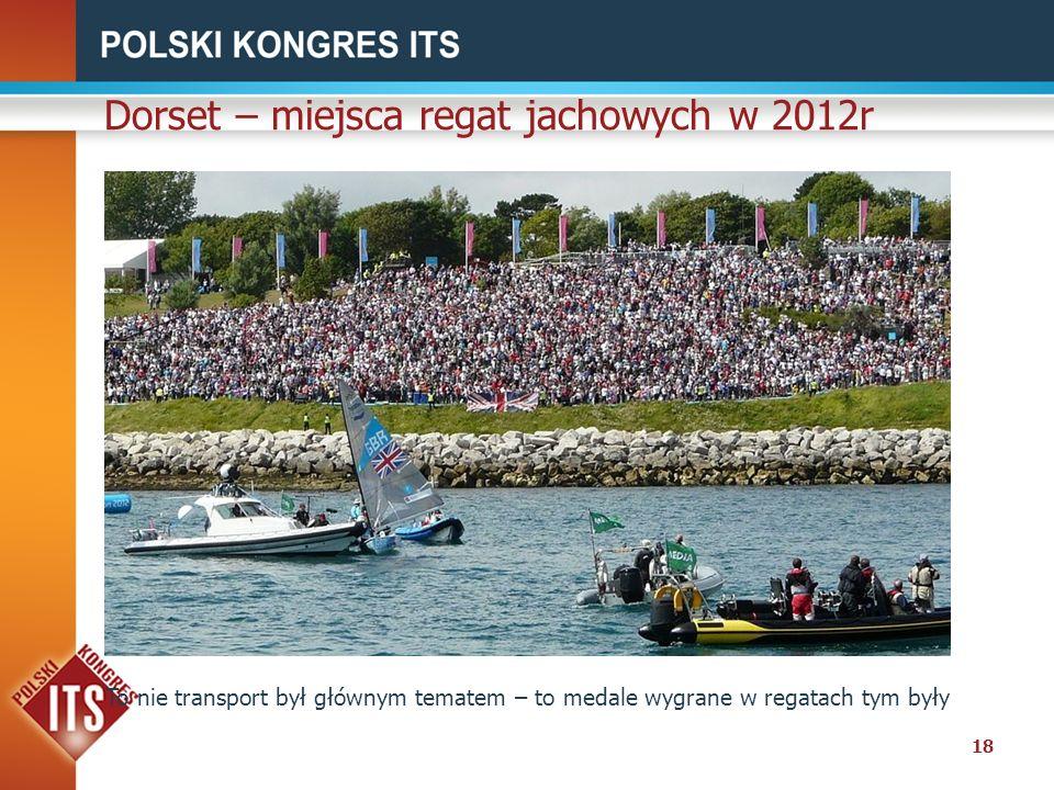 18 Dorset – miejsca regat jachowych w 2012r To nie transport był głównym tematem – to medale wygrane w regatach tym były