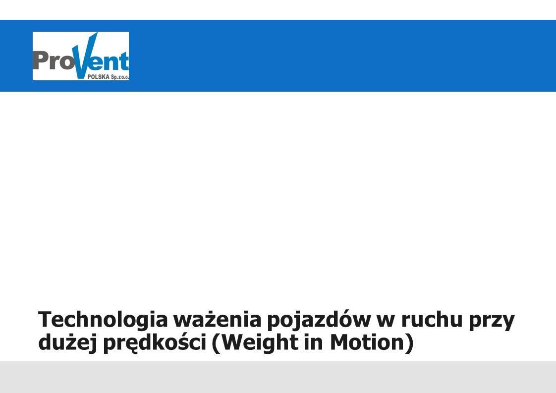 Technologia ważenia pojazdów w ruchu przy dużej prędkości (Weight in Motion)
