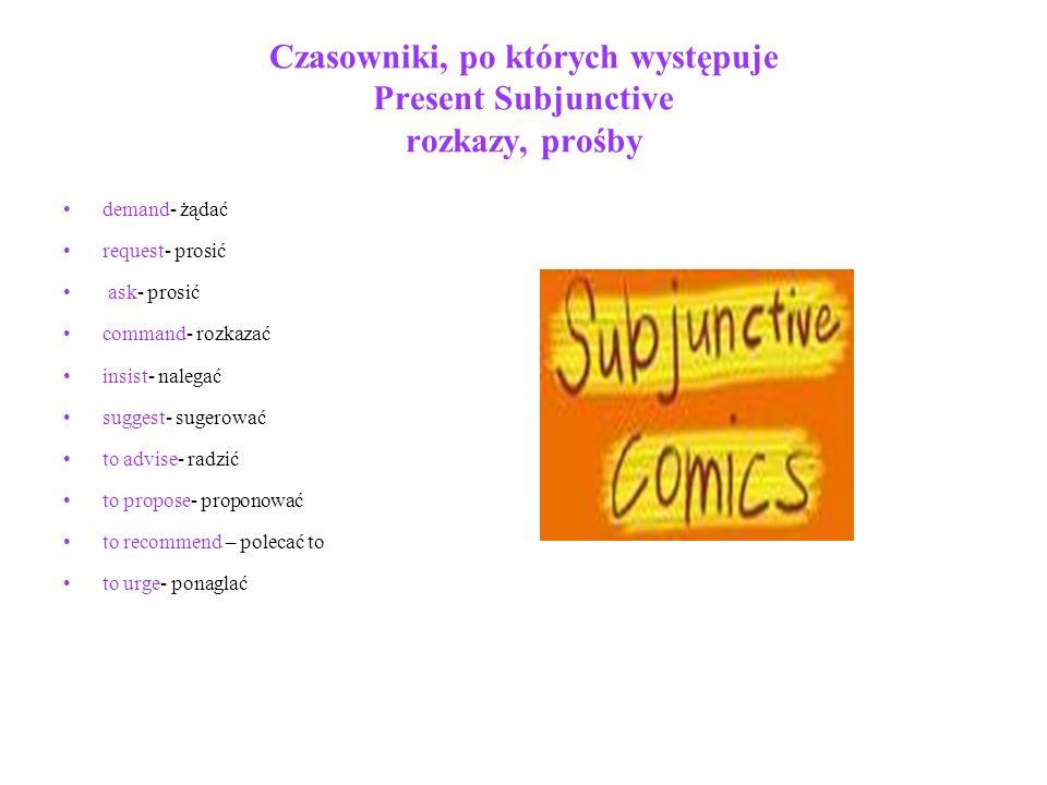 Subjunctive z czasownikiem modalnym SHOULD przykłady
