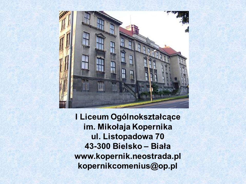 I Liceum Ogólnokształcące im. Mikołaja Kopernika ul.