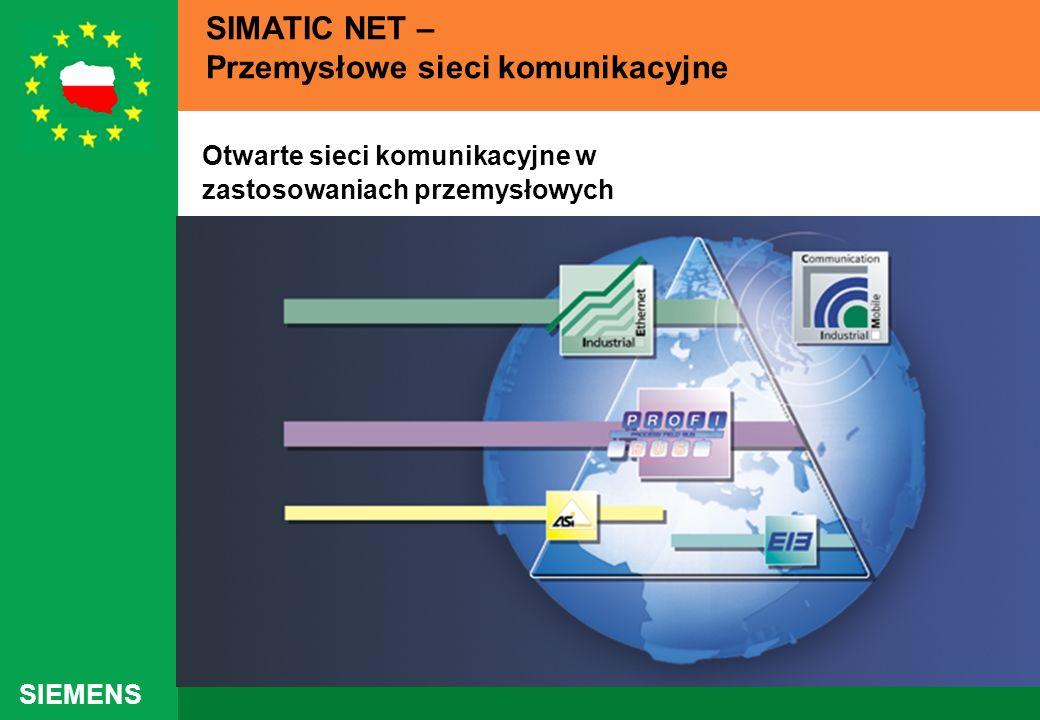 SIEMENS SIMATIC NET – Przemysłowe sieci komunikacyjne Otwarte sieci komunikacyjne w zastosowaniach przemysłowych
