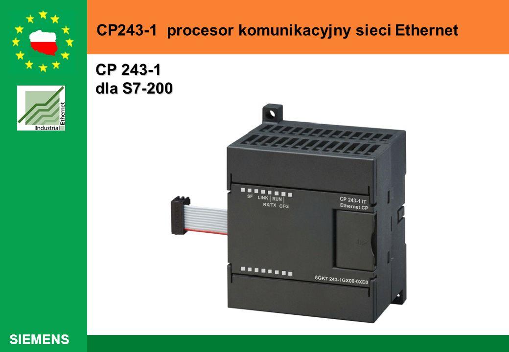 SIEMENS CP 243-1 dla S7-200 CP 243-1 dla S7-200 CP243-1 procesor komunikacyjny sieci Ethernet