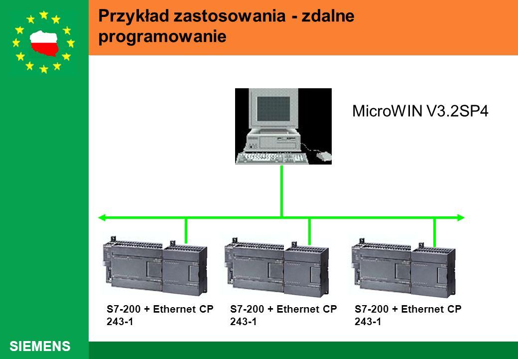 SIEMENS Przykład zastosowania - zdalne programowanie S7-200 + Ethernet CP 243-1 MicroWIN V3.2SP4