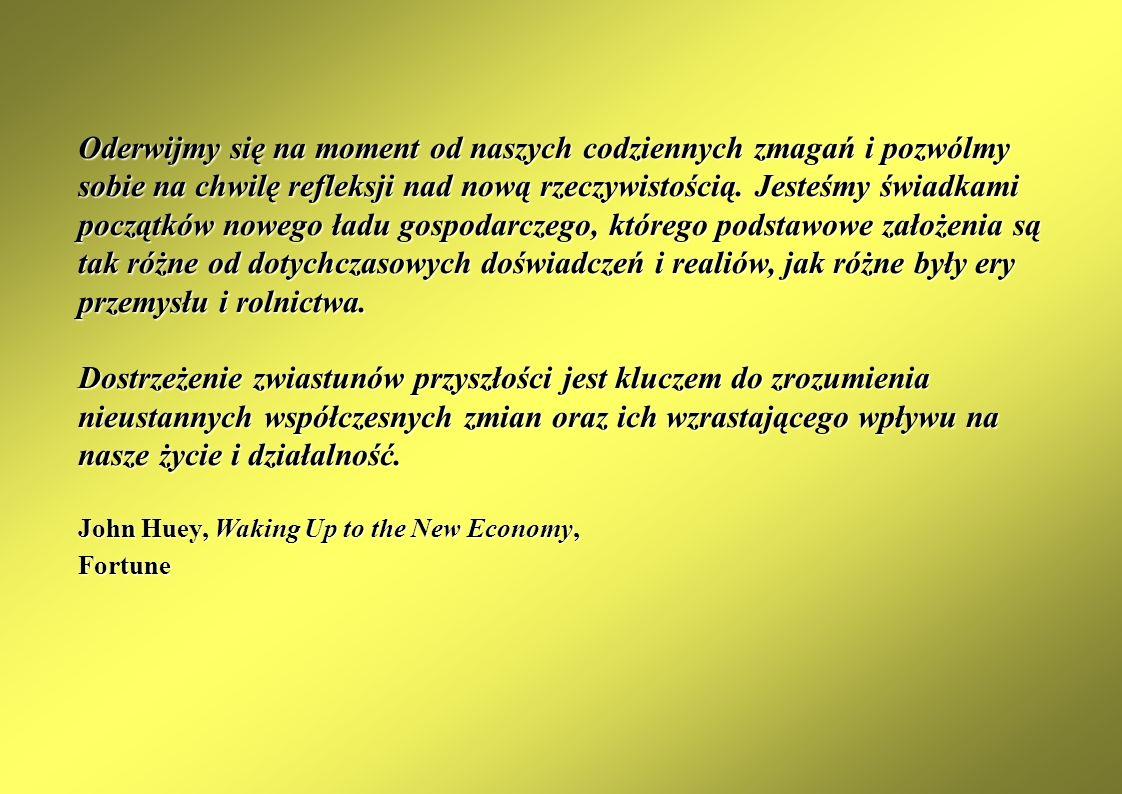 Trendy rozwoju gospodarki elektronicznej na świecie Instytucjonalne aspekty rozwoju gospodarki elektronicznej Stymulowanie rozwoju gospodarki elektronicznej w Polsce