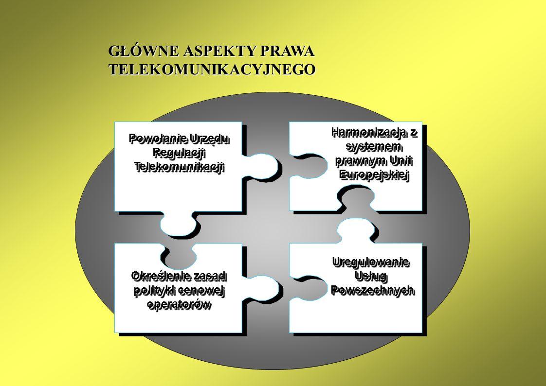 IMPLIKACJE DLA POLSKI Transmisja danych w paśmie fonicznym za pomocą modemów jako usługa powszechna Regulacje Transformacja dotychczasowych modeli funkcjonowania przedsiębiorstw i rynków Gospodarka Rozwiązania promujące powszechny dostęp do Internetu w szkołach i uczelniach Aspekty społeczne