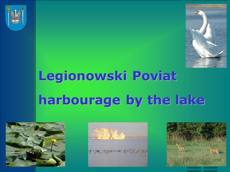 Legionowski Poviat harbourage by the lake