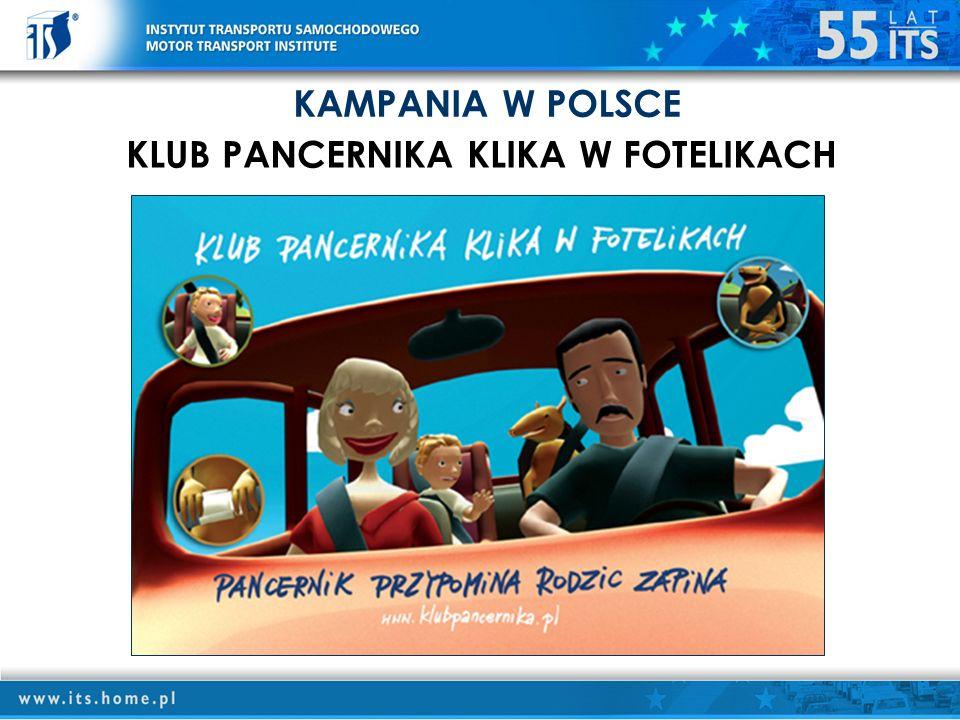 KAMPANIA W POLSCE KLUB PANCERNIKA KLIKA W FOTELIKACH