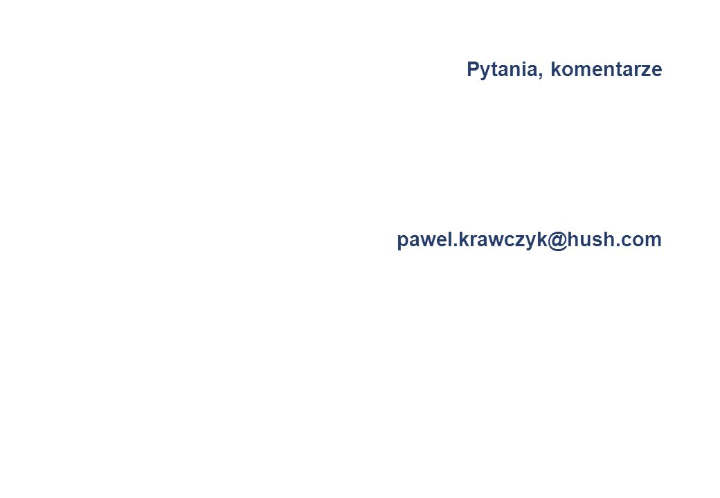 Pytania, komentarze pawel.krawczyk@hush.com