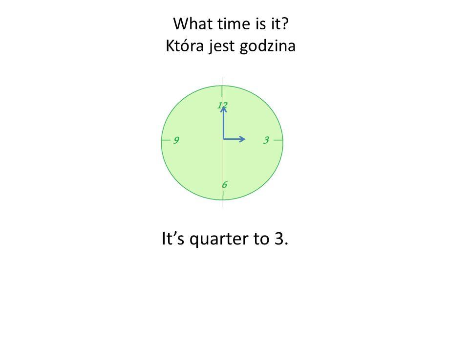 Its 5 to 3. What time is it? Która jest godzina