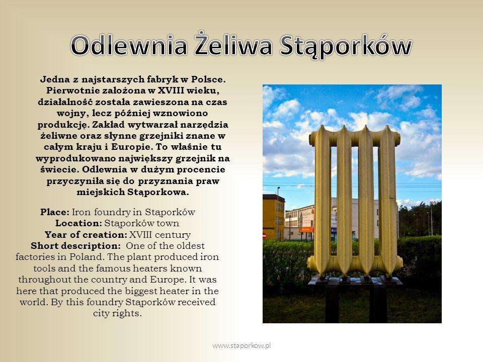 Stąporkowska odlewnia żeliwa w czasach świetności www.staporkow.pl
