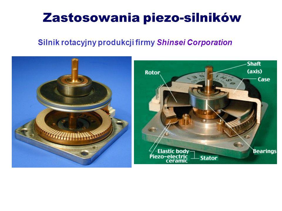 Zastosowania piezo-silników Silnik rotacyjny produkcji firmy Shinsei Corporation