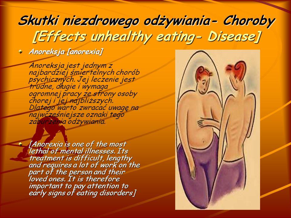 Skutki niezdrowego odżywiania- Choroby [Effects unhealthy eating- Disease] Bulimia [bulimia] Bulimia [bulimia] zaburzenia odżywiania charakteryzujące się napadami objadania się.