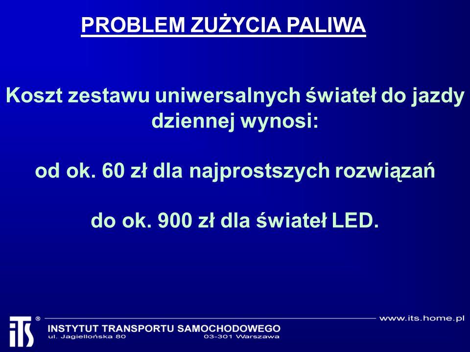 Koszt zestawu uniwersalnych świateł do jazdy dziennej wynosi: od ok.