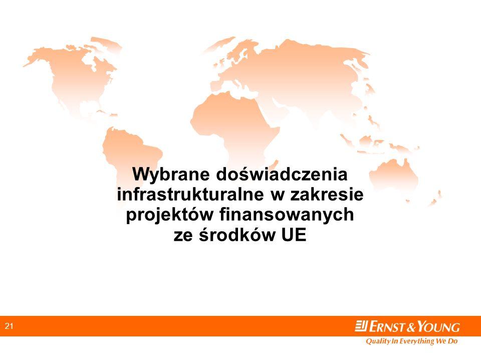 21 Wybrane doświadczenia infrastrukturalne w zakresie projektów finansowanych ze środków UE