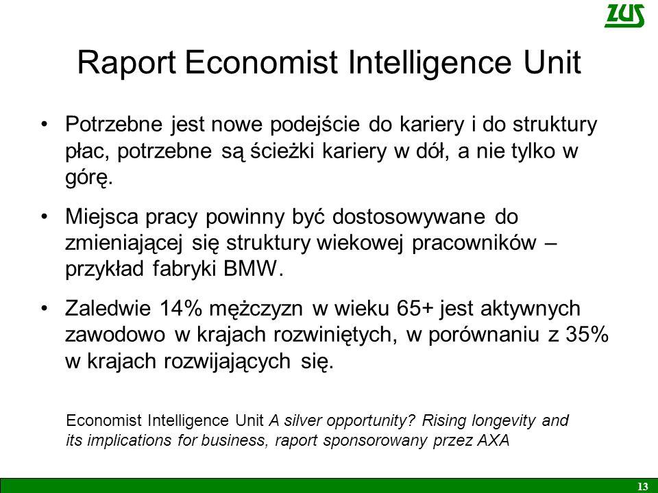 Raport Economist Intelligence Unit Potrzebne jest nowe podejście do kariery i do struktury płac, potrzebne są ścieżki kariery w dół, a nie tylko w górę.