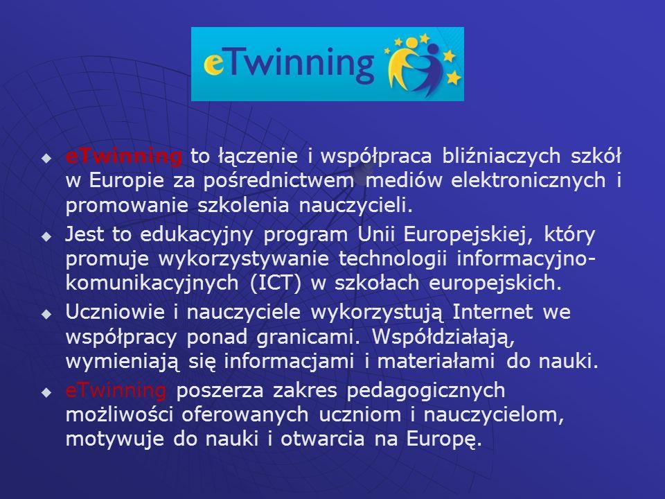 Trzy najważniejsze cechy projektów eTwinning: 1.1.
