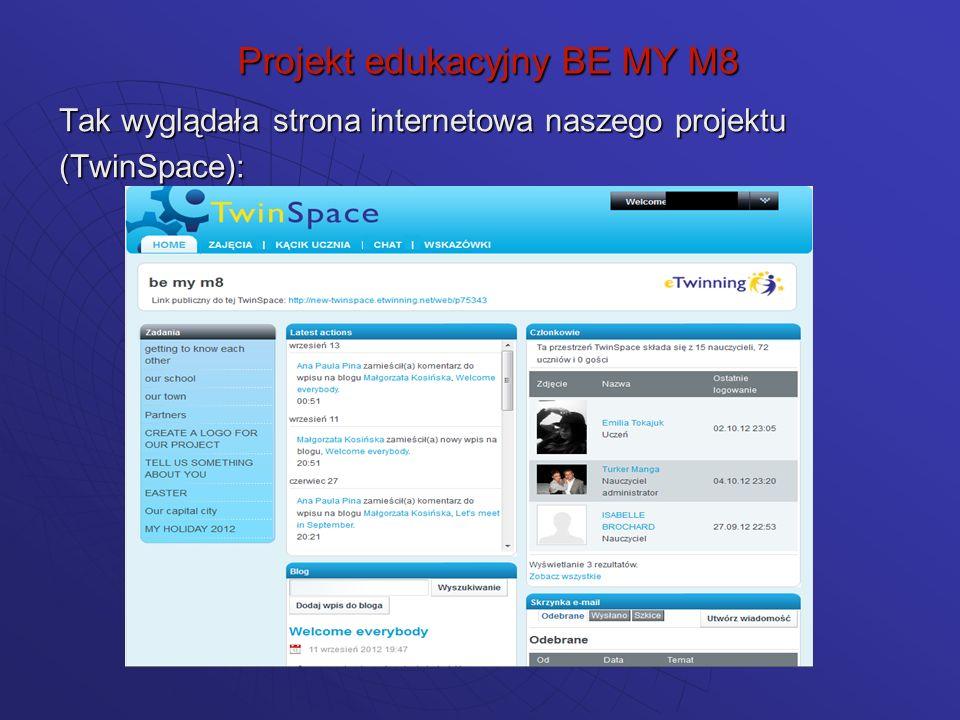 Etapy realizacji projektu: aktywowaliśmy własne konta na platformie TwinSpace Projekt edukacyjny BE MY M8