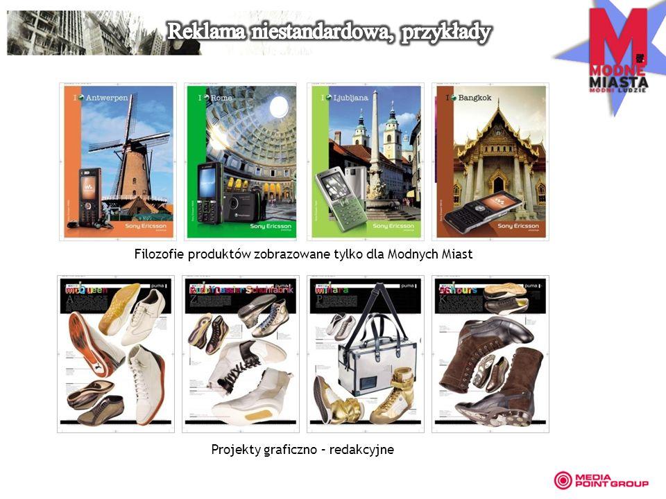 Filozofie produktów zobrazowane tylko dla Modnych Miast Projekty graficzno – redakcyjne
