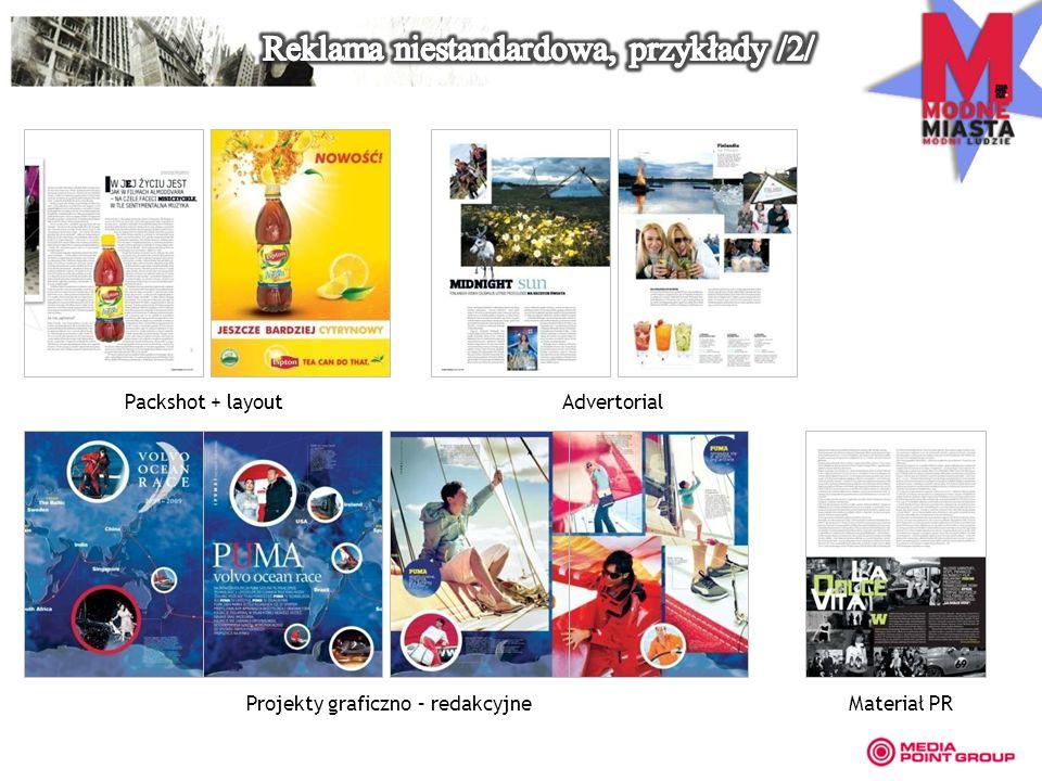 Packshot + layout Projekty graficzno – redakcyjne Advertorial Materiał PR
