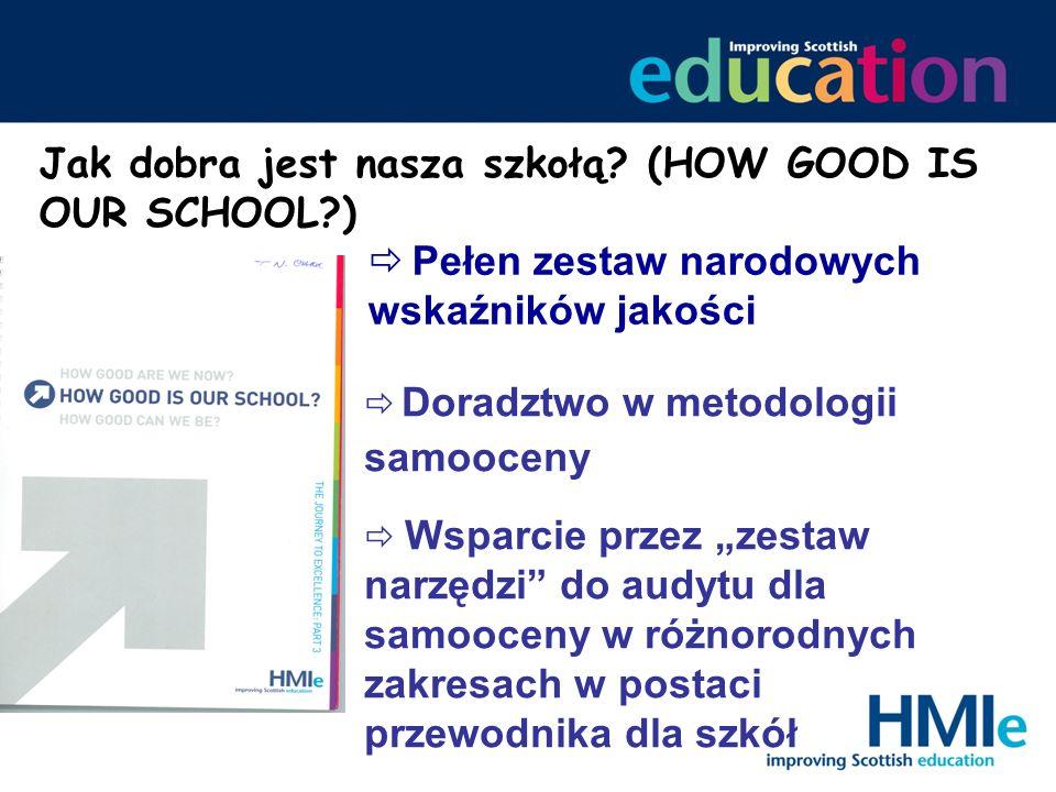 Jak dobra jest nasza szkołą? (HOW GOOD IS OUR SCHOOL?) Pełen zestaw narodowych wskaźników jakości Wsparcie przez zestaw narzędzi do audytu dla samooce
