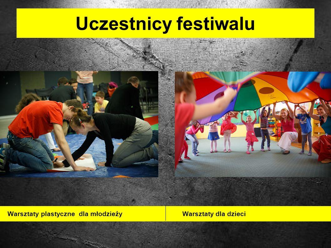 Uczestnicy festiwalu Warsztaty plastyczne dla młodzieży Warsztaty dla dzieci