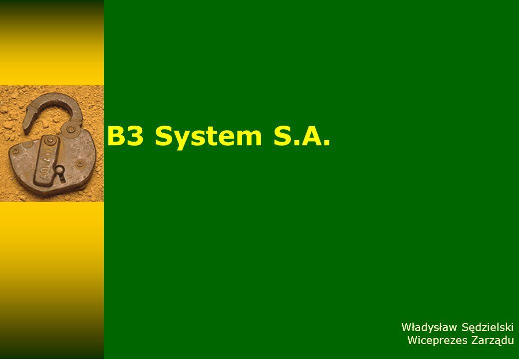 Twoje bezpieczeństwo to nasz wspólny cel luty 14B3System, 2008 12 KONKURENCJA Do głównych konkurentów Spółki zliczyć można takie firmy jak: Asseco Poland S.A.